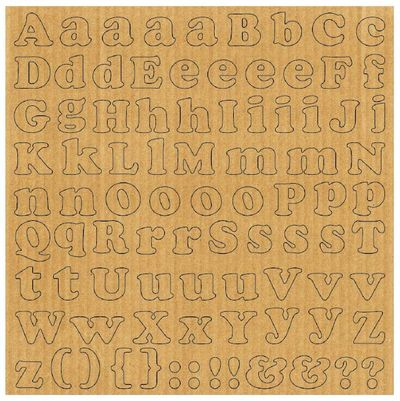 Corrugated Alphabet