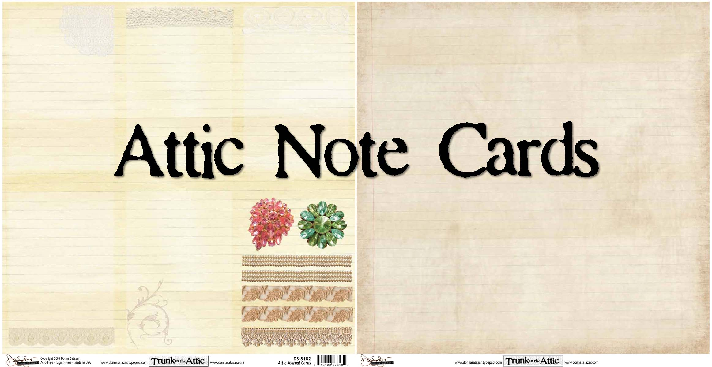 Attic note cards
