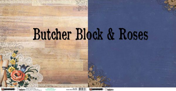 Butcher block & roses
