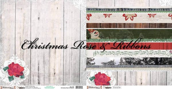Christmas Rose & Ribbons