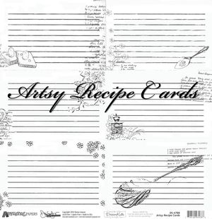 Artsy recipe cards