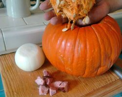 Pumpkin soup makings